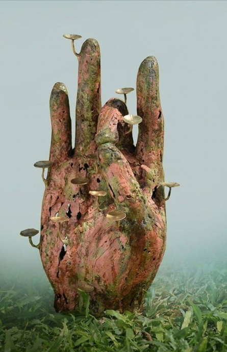 Dinesh Singh | Mudra 1 Sculpture by artist Dinesh Singh on Brass | ArtZolo.com