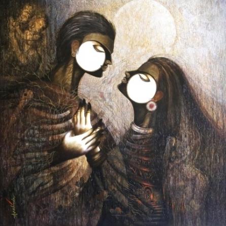 Desire 3 | Painting by artist Arabinda Samanta | acrylic | Canvas