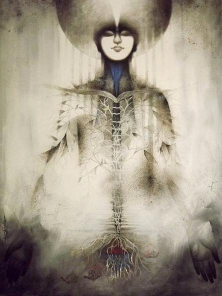 Samarpan 1 | Painting by artist Arabinda Samanta | acrylic | Canvas