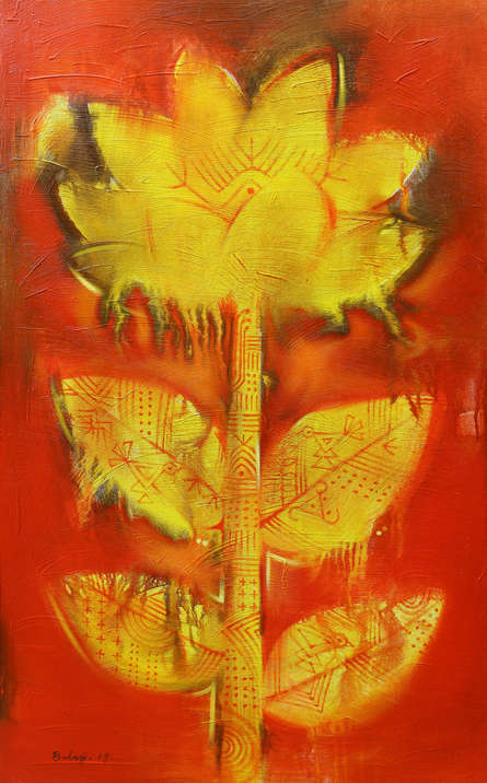 Nature Acrylic Art Painting title 'Flower' by artist Balaji Ubale
