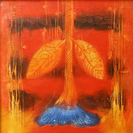 Nature Acrylic Art Painting title Flower 2 by artist Balaji Ubale