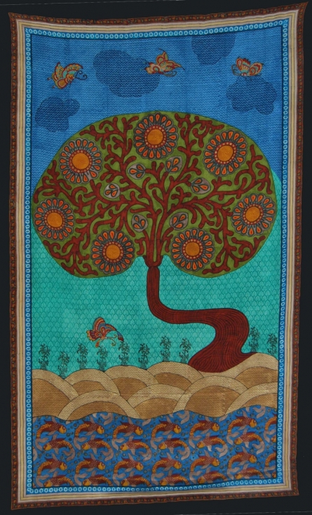 Jasminder Kaur   Tree Of Life 2 Printmaking by artist Jasminder Kaur   Printmaking Art   ArtZolo.com