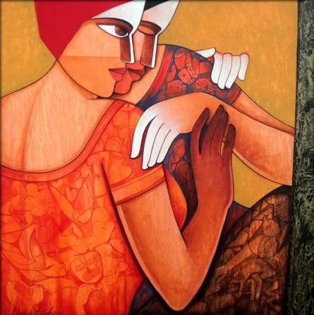 art, beauty, acrylic, canvas, painting, figurative