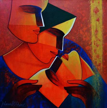 Figurative Acrylic Art Painting title Life 148 by artist Nawal Kishore