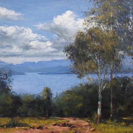 Landscape Oil Art Painting title Landscape 3 by artist Suraj Lohar