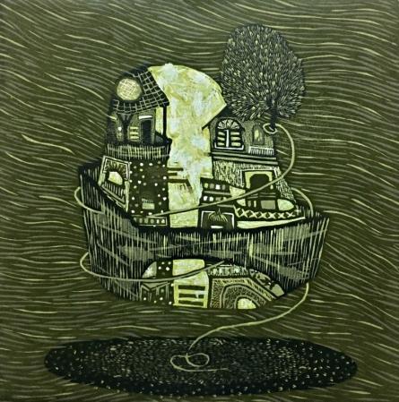 Payal Rokade | Dream City 2 Printmaking by artist Payal Rokade | Printmaking Art | ArtZolo.com