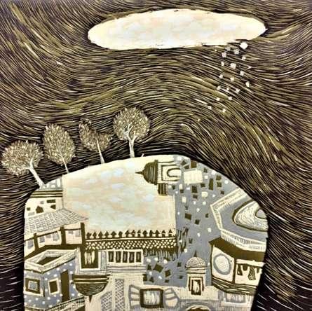 Payal Rokade | Dream City 5 Printmaking by artist Payal Rokade | Printmaking Art | ArtZolo.com