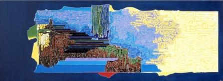 Symphony in Blue 2 | Painting by artist Veena Chitrakar | acrylic | Canvas