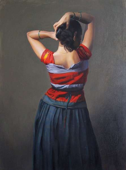 Beauty | Painting by artist Mahesh Soundatte | oil | Canvas