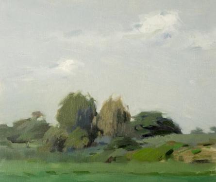 Mahesh Soundatte | Oil Painting title Nature 1 on Canvas | Artist Mahesh Soundatte Gallery | ArtZolo.com