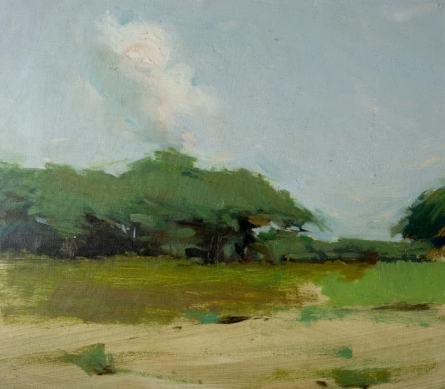 Landscape Oil Art Painting title 'Nature 2' by artist Mahesh Soundatte