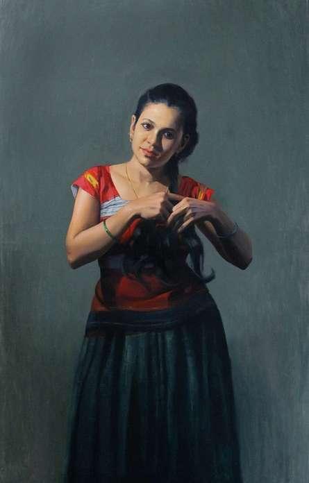 art, beauty, painting, oil, canvas, figurative
