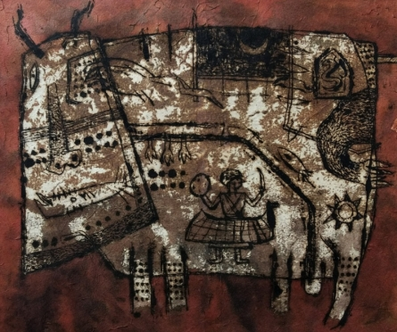 Ink Paintings | Drawing title Bull 2 on Paper | Artist Sagar Kamble