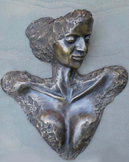 Vivek Kumar | I Am She Sculpture by artist Vivek Kumar on Bronze | ArtZolo.com