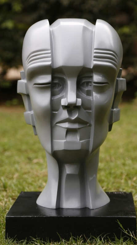 Fiberglass Sculpture titled 'Shades Of Life 3' by artist Vivek Kumar