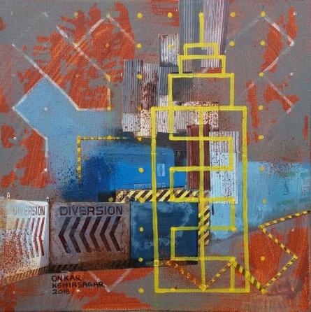Culture Underconstruction 2 | Mixed_media by artist Onkar Kshirsagar | Canvas