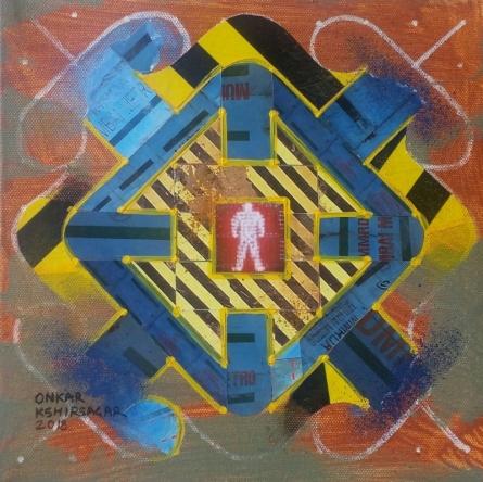 Onkar Kshirsagar | Culture Underconstruction 3 Mixed media by artist Onkar Kshirsagar on Canvas | ArtZolo.com