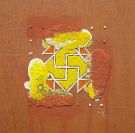 Onkar Kshirsagar | Nature Human And Culture 4 Mixed media by artist Onkar Kshirsagar on Plywood | ArtZolo.com
