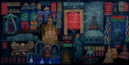 Seema Shah | Mystical Song Printmaking by artist Seema Shah | Printmaking Art | ArtZolo.com