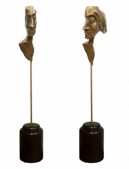 Bronze Sculpture titled 'Meditation' by artist Sukanta Chowdhury
