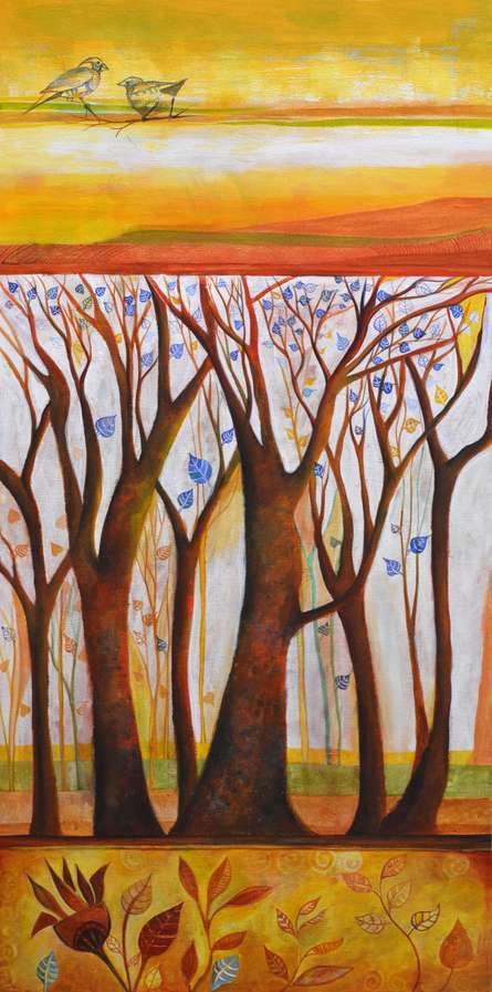 In The Woods | Painting by artist Shilpa Pachpor | acrylic | Canvas