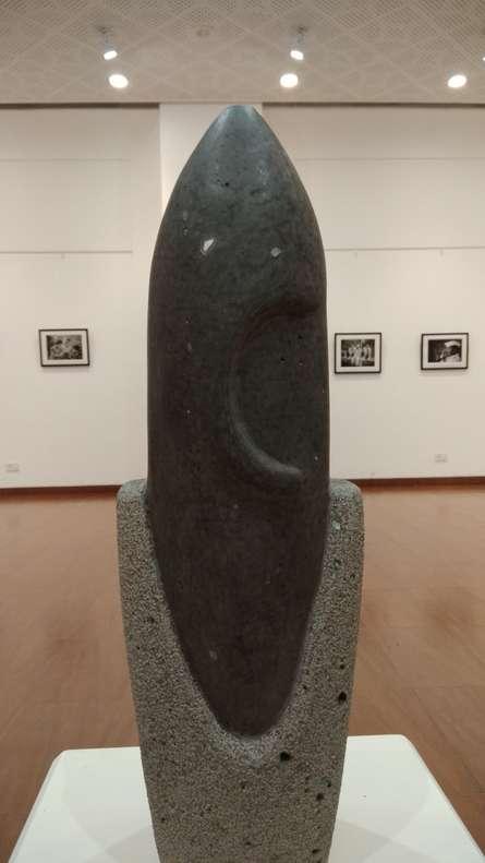 Hariram Phad | Ganesha Sculpture by artist Hariram Phad on Black Basalt Stone | ArtZolo.com