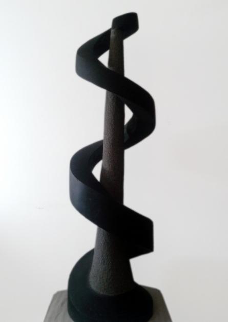 art, sculpture, black basalt stone, abstract