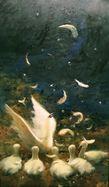 Ud Jayega Hans Akela | Painting by artist Abhishek Acharya | oil | Canvas