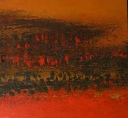 Abstract Oil Art Painting title Untitled 11 by artist Vipta Kapadia