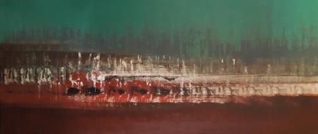 Abstract Oil Art Painting title Untitled 12 by artist Vipta Kapadia