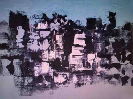 Abstract Oil Art Painting title Untitled 16 by artist Vipta Kapadia