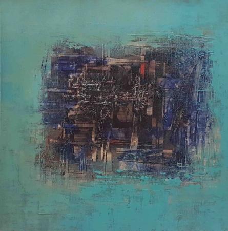 Abstract Oil Art Painting title Untitled 18 by artist Vipta Kapadia