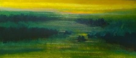 Abstract Oil Art Painting title 'Untitled 7' by artist Vipta Kapadia