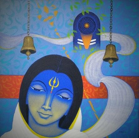 Religious Acrylic Art Painting title Spiritual Splendour 2 by artist Bhiva Punekar