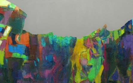 Abstract Oil Art Painting title Nagarhole 2 by artist Abhishek Kumar