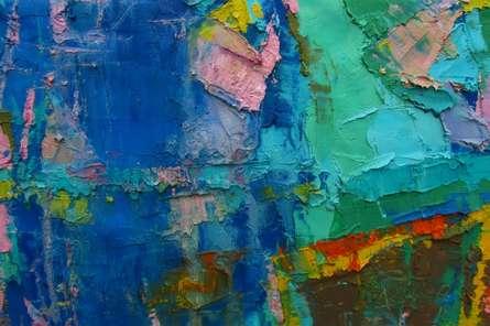 Abstract Oil Art Painting title Poetry Of Dreams 3 by artist Abhishek Kumar