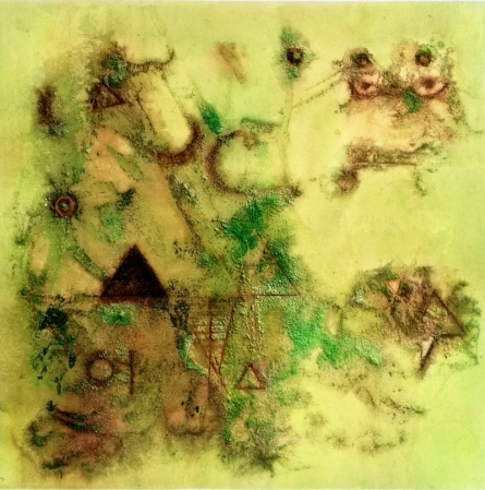 Ancient Dust | Painting by artist Kaushlendra Pratap Singh | mixed-media | Canvas
