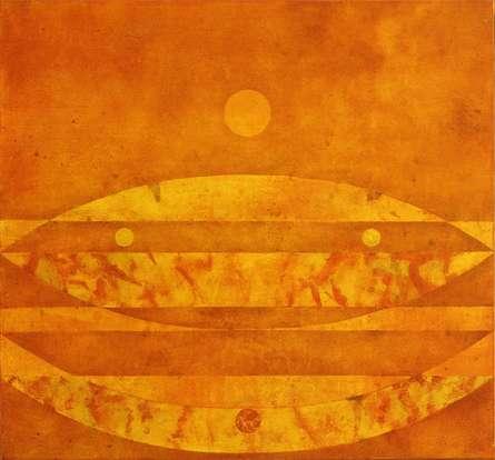 Abstract Oil Art Painting title Origin 14 by artist Prashant Dhadve