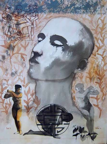 contemporary Mixed-media Art Painting title Passion by artist Avi Roy