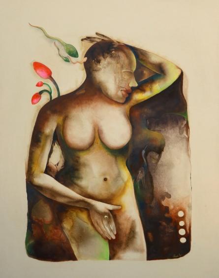 Milan Desai | Acrylic-oil Painting title Anubhav on Canvas | Artist Milan Desai Gallery | ArtZolo.com