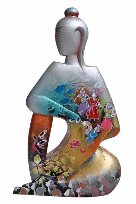 Swati Pasari | Buddha 1 Sculpture by artist Swati Pasari on Fiberglass | ArtZolo.com
