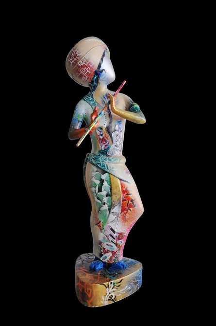 Fiberglass Sculpture titled 'Krishna 1' by artist Swati Pasari