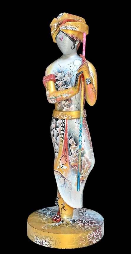 Fiberglass Sculpture titled 'Krishna 2' by artist Swati Pasari