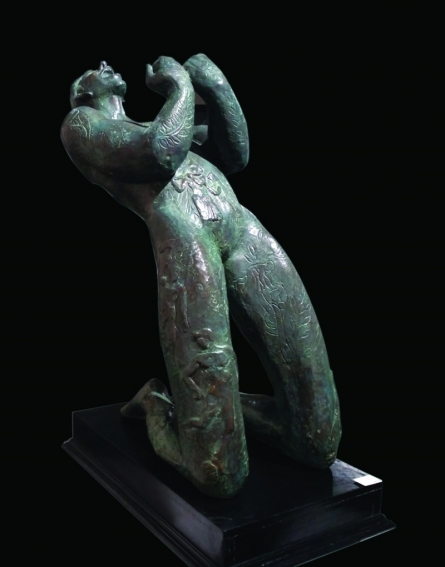 Somnath Chakraborty | Joy Sculpture by artist Somnath Chakraborty on Bronze | ArtZolo.com