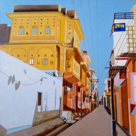 Street Series 5 | Painting by artist Ajay Mishra | acrylic | Canvas