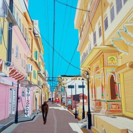 Ajay Mishra | Acrylic Painting title Street Series 6 on Canvas | Artist Ajay Mishra Gallery | ArtZolo.com