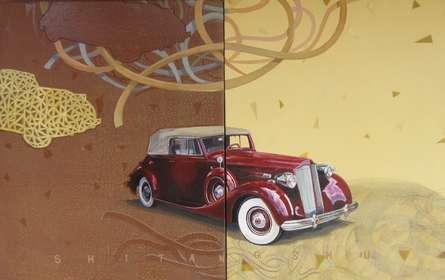 Transportation Acrylic Art Painting title Glorious Journey by artist Shitangshu Mondal