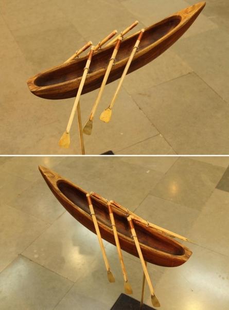Wood, Brass Sculpture titled 'Journey Never Ends' by artist Navjot Sohal