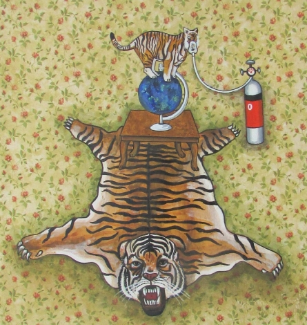 contemporary Acrylic Art Painting title 'Animal Endangered 10' by artist Manisha Agrawal