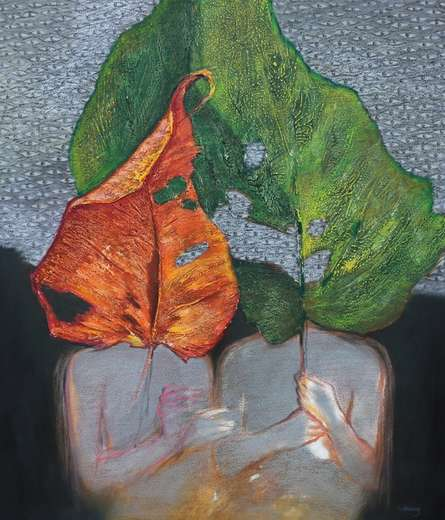contemporary Mixed-media Art Painting title 'As Within So Without 11' by artist Manoj Paturkar